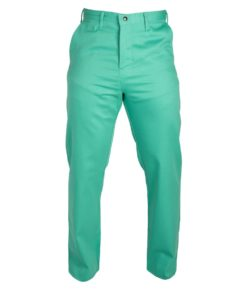 Flame Resistant Green Cotton Pants for Welding